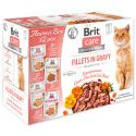 Brit Care Cat Fillets in gravy 12 x 85 g