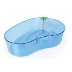 Nagy kék terrárium teknősök számára pálmával