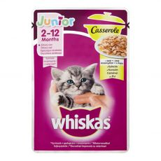 Whiskas Casserole Junior csirke zacskós eledel 85 g