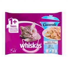 Whiskas Casserole halhúsos válogatás zselében 4 x 85 g