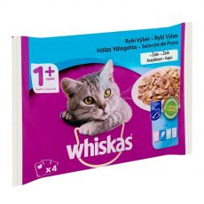 Whiskas halhúsos válogatás zselében 4 x 85 g