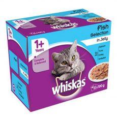 Whiskas halhúsos válogatás zselében 12 x 100 g
