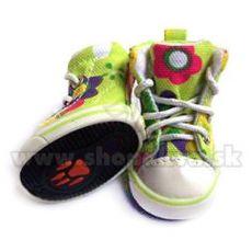 Kutya cipők - zöld tornacipő (4 db), 1-es méret