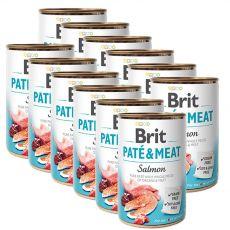 Brit Paté & Meat Salmon konzerv, 12 x 400 g