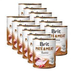 Brit Paté & Meat Rabbit konzerv, 12 x 800 g