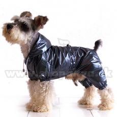 Kutya esőkabát, kétrétegű - szürkésfekete, XS