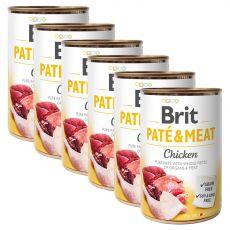 Brit Paté & Meat Chicken konzerv 6 x 400 g