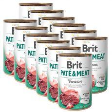 Brit Paté & Meat Venison konzerv  12 x 400 g