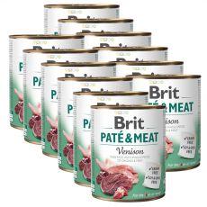 Brit Paté & Meat Venison konzerv 12 x 800 g