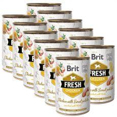 Brit Fresh Chicken with Sweet potato konzerv 12 x 400 g