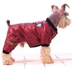 Kapucni nélküli overál kutyáknak - bordó, XS