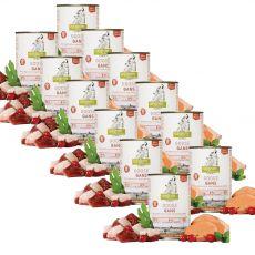 ISEGRIM Adult Prairie: Liba édesburgonyával, csipkebogyóval és gyógynövényekkel 12 x 400 g
