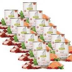 ISEGRIM Adult Prairie: Liba édesburgonyával, csipkebogyóval és gyógynövényekkel 12 x 800 g