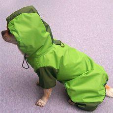Esőkabát kutyának - zöld, XS