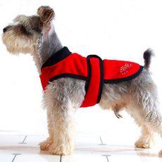 Fleece mellény kutyának - piros-fekete - XS