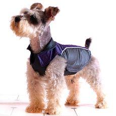 Kutya mellény - lila-fekete, tépőzáras, XS
