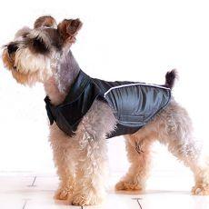 Fekete-szürke mellény kutyák számára - tépőzár, XS