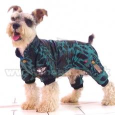 Kutya overál - leopárd, zöld-fekete, XS
