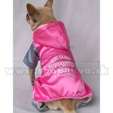 Sportos overál kutyának - szürke-rózsaszín, XS
