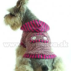 Svetrík s kapucňou - ružovosivý, bavlna, XS