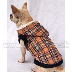 Kabát kutyusok részére - bélelt, bézs, XS