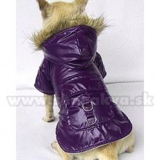 Viharkabát kutyának - vízhatlan, lila, XS