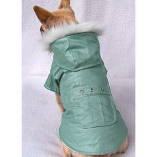 Zsebes kabát kutyák számára - zöld, XS