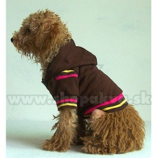 Kapucnis pulóver kutyának - barna, XS
