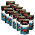 GranCarno Original Adult konzerv marha és lazac + spenót - 12 x 400 g