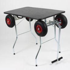 Összecsukható – kefélő asztal kültéri kerekekkel 100 x 60 cm