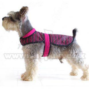 Rózsaszín-fekete mellény kutyáknak, XS