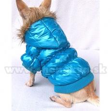 Viharkabát kutyának - tollkabát, kék, XS
