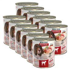 New BEWI DOG konzerv – Borjúhúsos, 12 x 800g