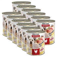 New BEWI DOG konzerv – Csirke, 12 x 800g