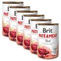 Brit Paté & Meat Beef konzerv 6 x 400 g