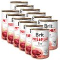 Brit Paté & Meat Beef konzerv 12 x 400 g