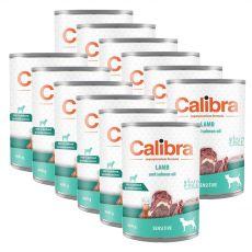 Calibra Dog Adult Grain Free Sensitive konzerv bárányhús lazac olajjal 12 x 400g