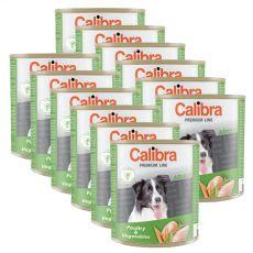 CALIBRA Premium Adult konzerv - baromfi és zöldség, 12 x 800 g