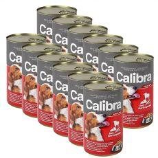 Konzerv Calibra Dog Adult marha, máj és zöldség aszpikban, 12 x 1240g