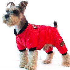 Overál télre kutyáknak - piros, XS