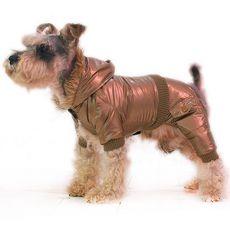 Téli overál kutyának - barna-arany, XS