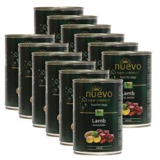 NUEVO DOG Adult Lamb & Potato konzerv 12 x 400 g