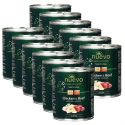NUEVO DOG Junior Chicken & Beef konzerv 12 x 800 g