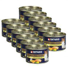ONTARIO konzerv borjúhússal, édes burgonyával és lenmagolajjal – 12 x 200g
