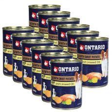 ONTARIO konzerv borjúhússal, édes burgonyával és lenmagolajjal – 12 x 400g