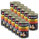 ONTARIO Puppy kutyakonzerv, csirke, rizs és olaj - 12 x 400g