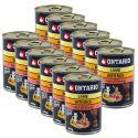 ONTARIO kutyakonzerv, bárány, rizs és olaj - 12 x 400g