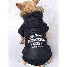 Kabát kutyáknak - sportos, fekete, XS