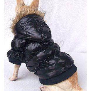 Viharkabát kutyának - tollkabát, fekete, XS