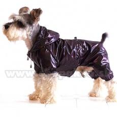Kutya esőköpeny, kétrétegű - lilásbarna, XS